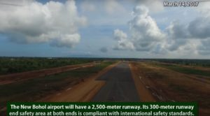 Arial footage of the new Bohol Panglao Airport