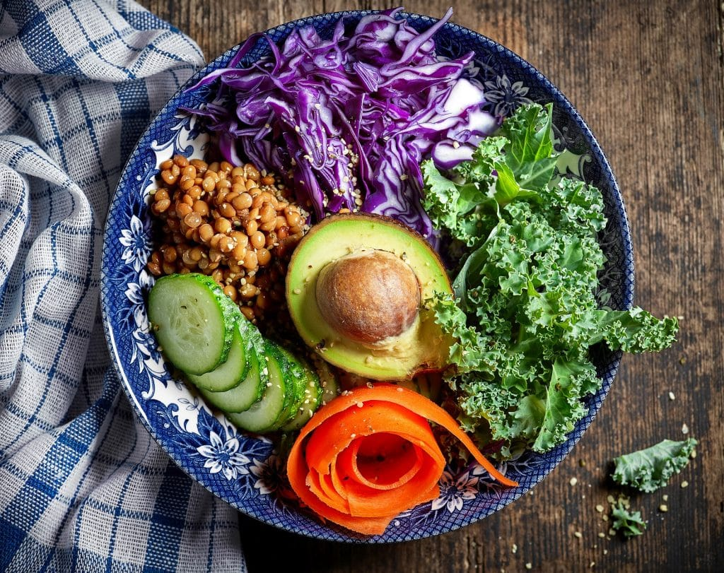 Vegan diet breakfast bowl
